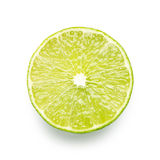 Lime Slice on White Stock Photography