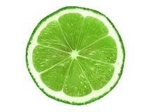 Lime slice on white royalty free stock photos