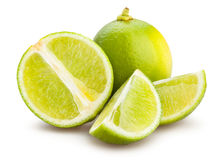 Lime. Sliced lime on white background Stock Photo