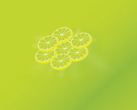 Lime slices. 3D illustration of lime slices Royalty Free Stock Photo