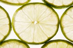Lime slices Stock Photos