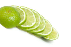 Lime slices Stock Images