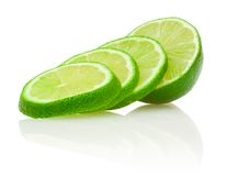 Lime with slices Royalty Free Stock Photo