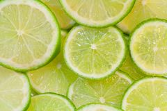 Lime slices background Stock Photo
