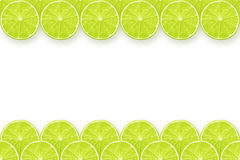Lime slices frame Royalty Free Stock Photos