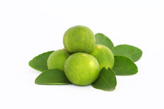 Lime. With slices isolated on white Royalty Free Stock Image
