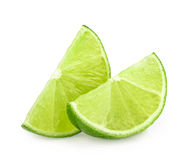 Lime slices isolated Stock Image