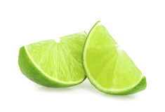 Lime slices isolated Royalty Free Stock Photos