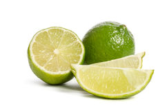Lime and  slices of limes Royalty Free Stock Photo
