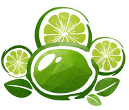 Lime and slices Stock Photography