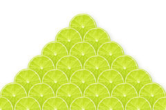 Lime slices pyramid Stock Image