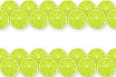 Lime slices stripes Stock Image
