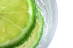 Lime in Soda Stock Photos