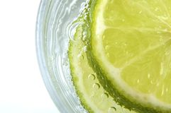 Lime in Soda Stock Photography