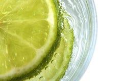 Lime in Soda Stock Image