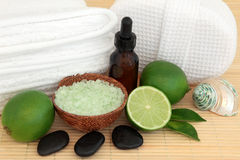 Lime Spa Treatment Stock Photos
