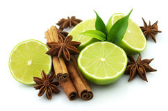 Lime with spices Royalty Free Stock Image
