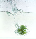 Lime splash Stock Photography