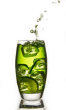 Lime with a splash. Lime drink with a ice and a splash Stock Images