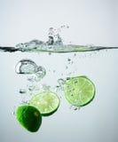 Lime splash Royalty Free Stock Images