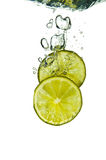 Lime Splash Stock Images