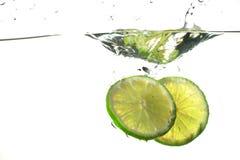 Lime Splash Royalty Free Stock Photography