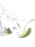 Lime splash Stock Photos