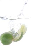 Lime splash Royalty Free Stock Image