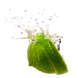 Lime splash Royalty Free Stock Images