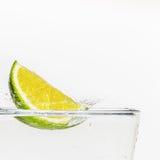 Lime splash Royalty Free Stock Photo