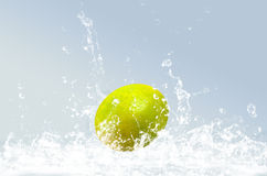 Lime  splashing Stock Photo