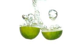 Lime splashing Royalty Free Stock Image