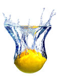 Lime splashing Royalty Free Stock Images