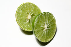 Lime split in half Royalty Free Stock Photo