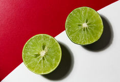 Lime split in half Royalty Free Stock Images