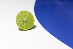 Lime split in half Royalty Free Stock Photography