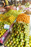 Lime stand. A lime and fruit stand in laos Stock Photo