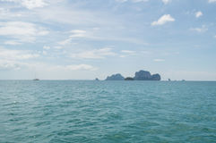 Lime Stone Formations and Islets, Railay Beach, Krabi, Thailand Royalty Free Stock Photography