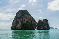 Lime Stone Formations and Islets, Railay Beach, Krabi, Thailand Stock Photo