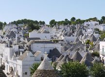 Lime stone roofs in Alberobello Stock Photography