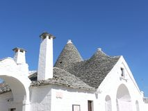 Lime stone roofs in Alberobello Stock Image