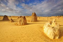 Lime stones at Pinnacles Desert Royalty Free Stock Photo