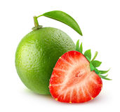 Lime and strawberry Stock Images