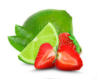 Lime and strawberry Royalty Free Stock Photo