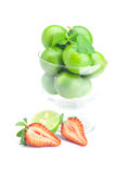 Lime, strawberry and mint Stock Photo