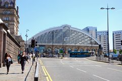 Lime Street Railway Station, Liverpool. Royalty Free Stock Images