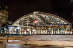 Lime Street railway station by night. ENGLAND, LIVERPOOL - 15 NOV 2015: Lime Street railway station by night stock photo