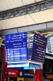 Lime Street Railway Station Sign. Stock Photos