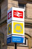Lime Street Railway Station Sign. Royalty Free Stock Image