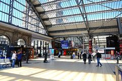 Lime Street station concourse. Royalty Free Stock Images